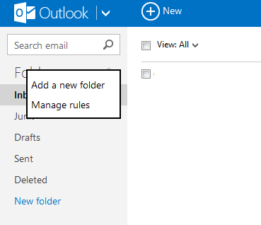 outlook.com mail rules
